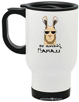 Como Se Llama Funny No Prob Llama No Drama Mama Travel Mug b
