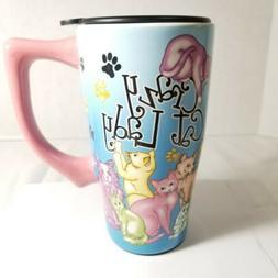 Spoontiques Crazy Cat Lady Ceramic Travel Mug  Multi Colored