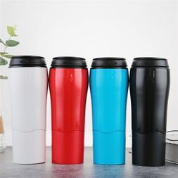 Creative Coffee Mug Water Bottle Travel Outdoor Plastic Spor