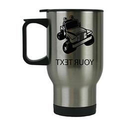 Custom Personalized Jeep 14 oz Silver Stainless Steel Custom