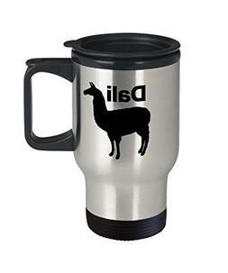 Dali Llama Mug Travel Coffee Cup Funny Gift For Llama Mama D