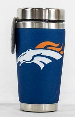 Denver Broncos Mugzie NFL Stainless Steel 16oz Travel Tumble