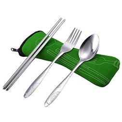 PENATE 3 Pcs Dinnerware Set Food Grade Stainless Steel Knife