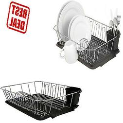 Dish Drainer Tray Rack Kitchen Drying Holder Organizer Stain