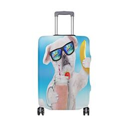 ALAZA Dog Holding Smoothie A Mug Travel Luggage Cover DIY Pr