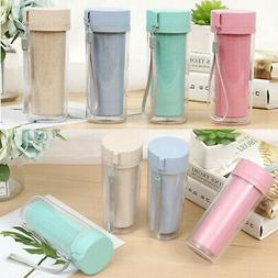 Double-Wall Insulated Travel Mug Office Coffee Tea Water Bot
