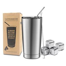 Ice Drink Hot Beverage HOMESTEC Travel Mugs 34 oz Double Wal