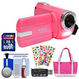 Vivitar DVR-508 NHD Digital Video Camera Camcorder  with 16G