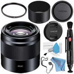 Sony E 50mm f/1.8 OSS Lens  SEL50F18/B + 49mm UV Filter + Le