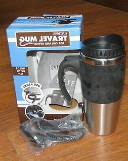 Electronic Travel Mug 16 oz for car & office - plug into 12v
