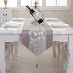 Elegant handmade grey leaf damask tassel wedding party bed t