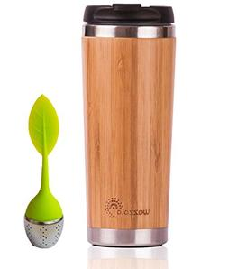Elegant Reusable Bamboo Eco Travel Mug  for Coffee or Tea |