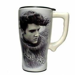 Spoontiques Elvis Legend Travel Mug, White, New, Free Shippi