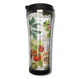 Farm Collage 420ml Stainless Steel Vacuum Coffee Tumbler Wit