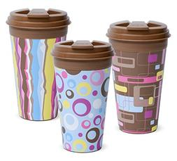 Easy Traveler Retro Collection Insulated Travel Mug, 16 Oz.,