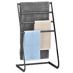 MyGift 32 Inch Freestanding Metal Towel Rack, 4 Tier Laundry