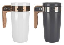 Ello Fulton BPA-Free Ceramic 16 oz Travel Mug with Lid, 2 Co
