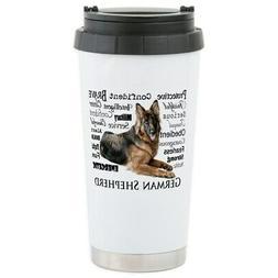 CafePress German Shepherd Traits Travel Mug Stainless Mug