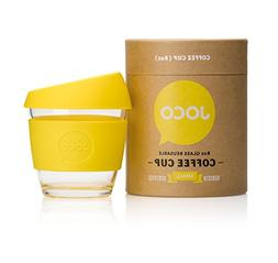 JOCO 8oz Glass Reusable Coffee Cup