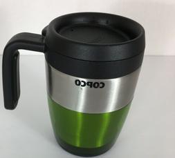 Copco Green Stainless Steel Ease Grip Handle Coffee Tea Drin