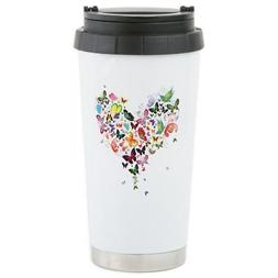 CafePress - Heart Of Butterflies Travel Mug - Stainless Stee