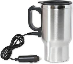 12V Heated Travel Car Mug – Insulated Stainless Steel Auto