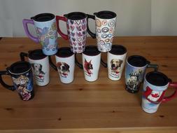 High Quality Ceramic 14 Oz. Travel Coffee Tea Mug Tumbler Do
