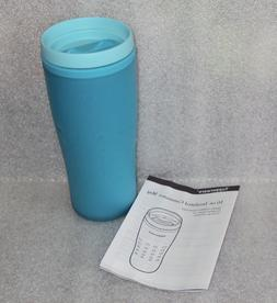 Tupperware Insulated Commuter Mug Travel 12 oz Aqua Blue Bra