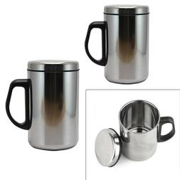 Insulated  Cup Stainless Steel Water Coffee Tea Drink Outdoo