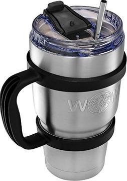 Insulated Tumbler Coffee Travel Mug - Set with Handle + Leak