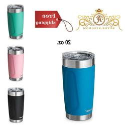 Insulated Tumblers Travel Mug Cup Stainless Steel Blue Black