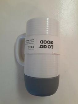 Ello Jane Ceramic Travel Mug  18 oz Gray New