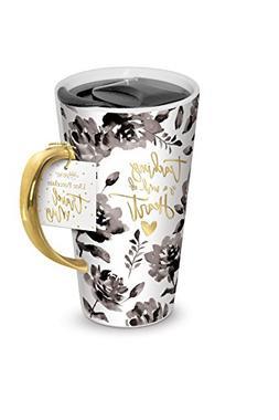 Lady Jane 13oz Spill Proof Ceramic Coffee Travel Mug with Li
