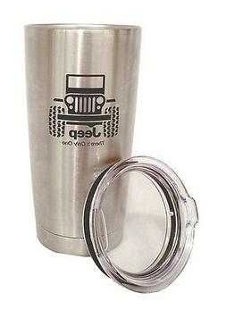 JEEP WRANGLER STAINLESS STEEL TUMBLER ENGRAVED THERMOS TRAVE