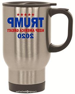 Keep America Great ! Donald Trump 2020 New 14 Oz Travel Mug