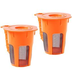 Kloud City Pack of 2 Refillable Coffee Filter Cup for Keurig