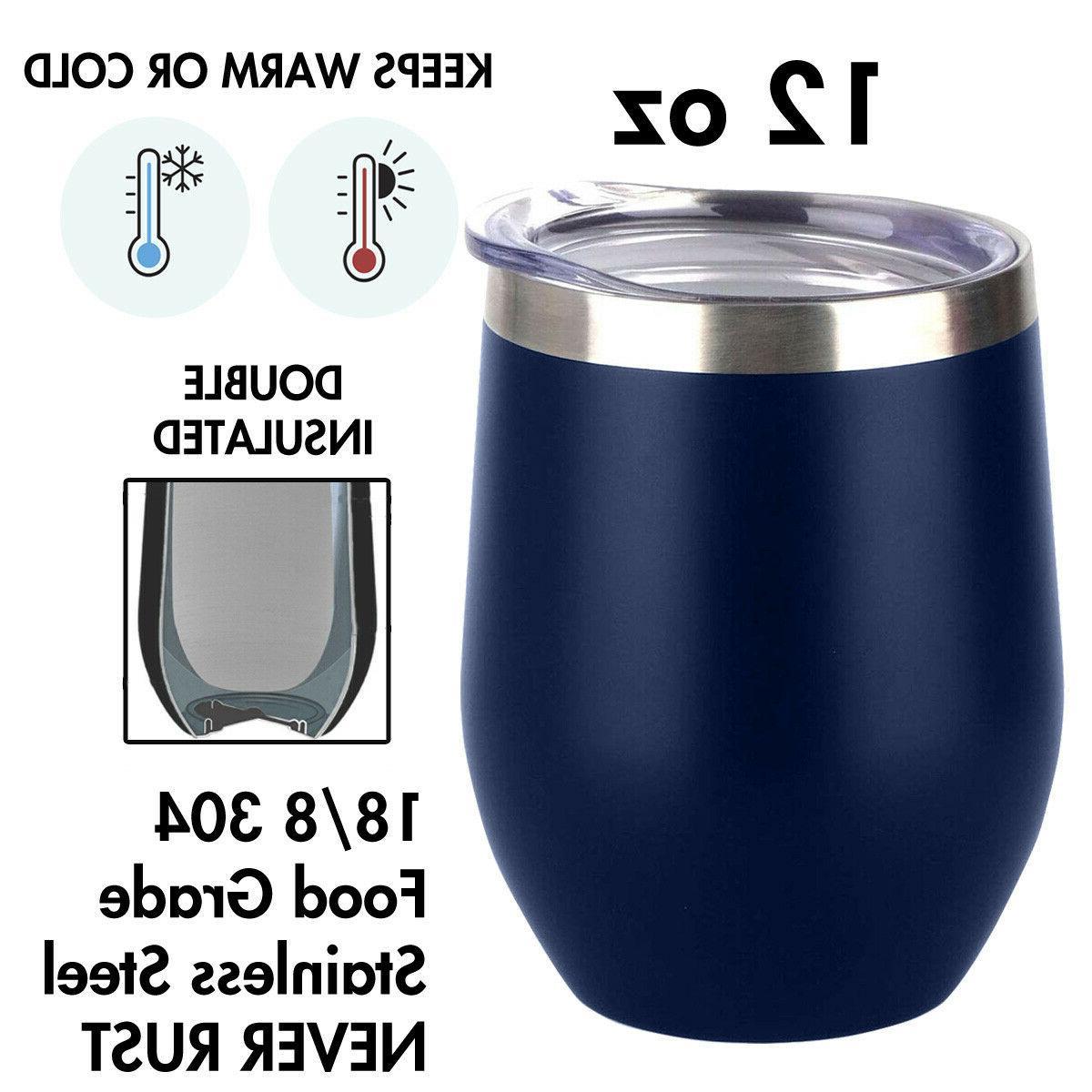 12 OZ Wine Steel Tumbler Vacuum Wall Insulation