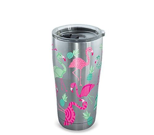 Tervis 1261373 Flamingo Pattern Stainless Steel Tumbler with