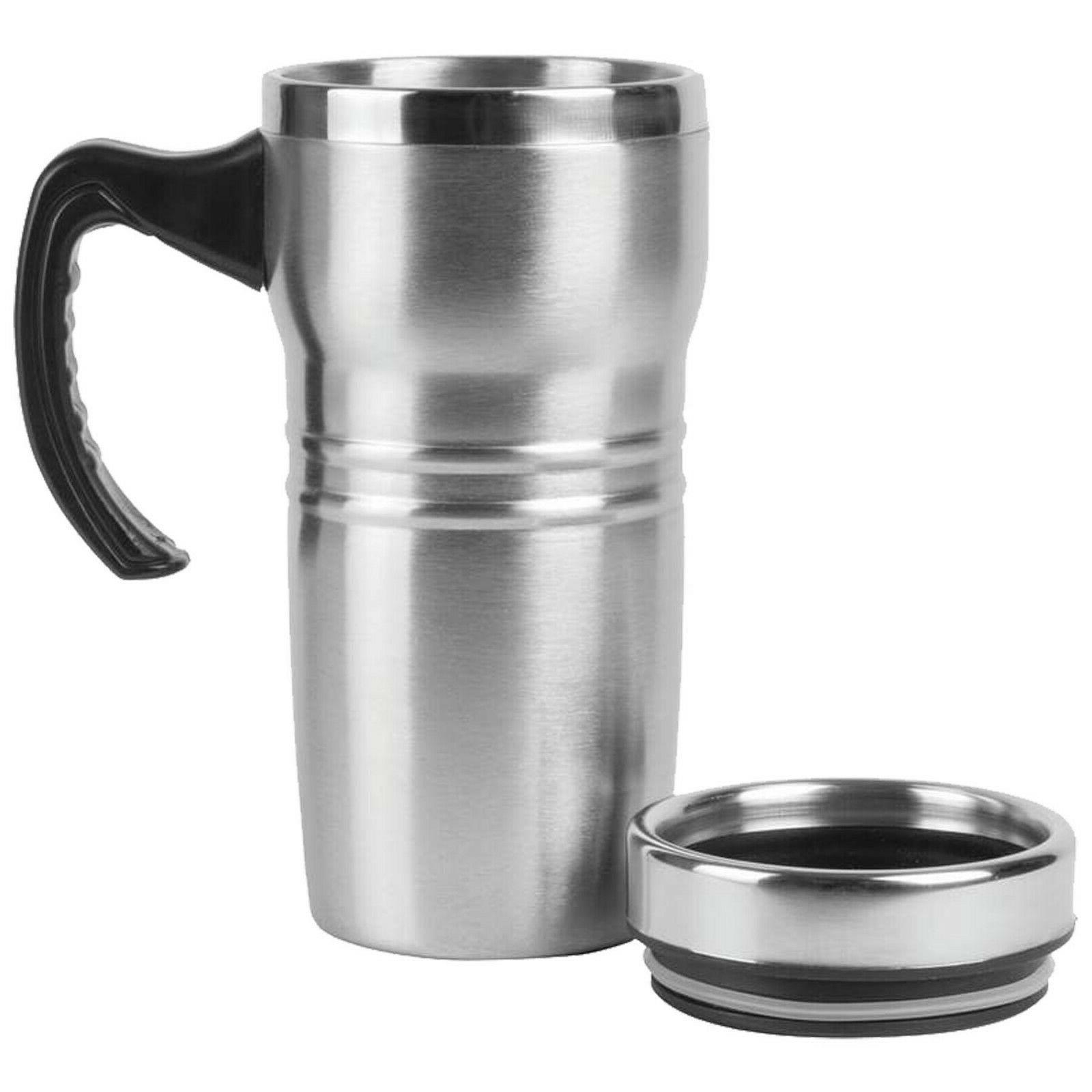 16oz Insulated Coffee Mug Travel Liner Beverage Handle