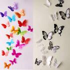 18pcs 3D Butterfly Decor Colorful Wall Stickers Decals Cryst