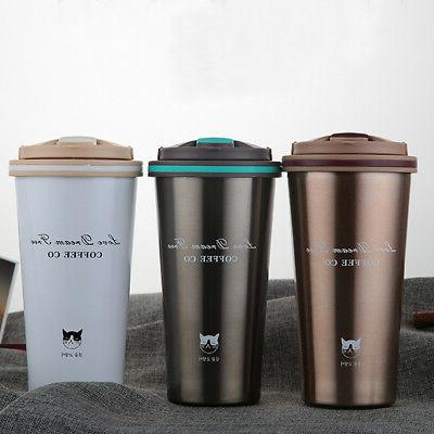 1X 500ML Stainless Steel Insulated Thermal Travel Mug Cup