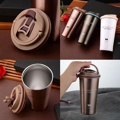 1x 500ml stainless steel insulated thermal travel