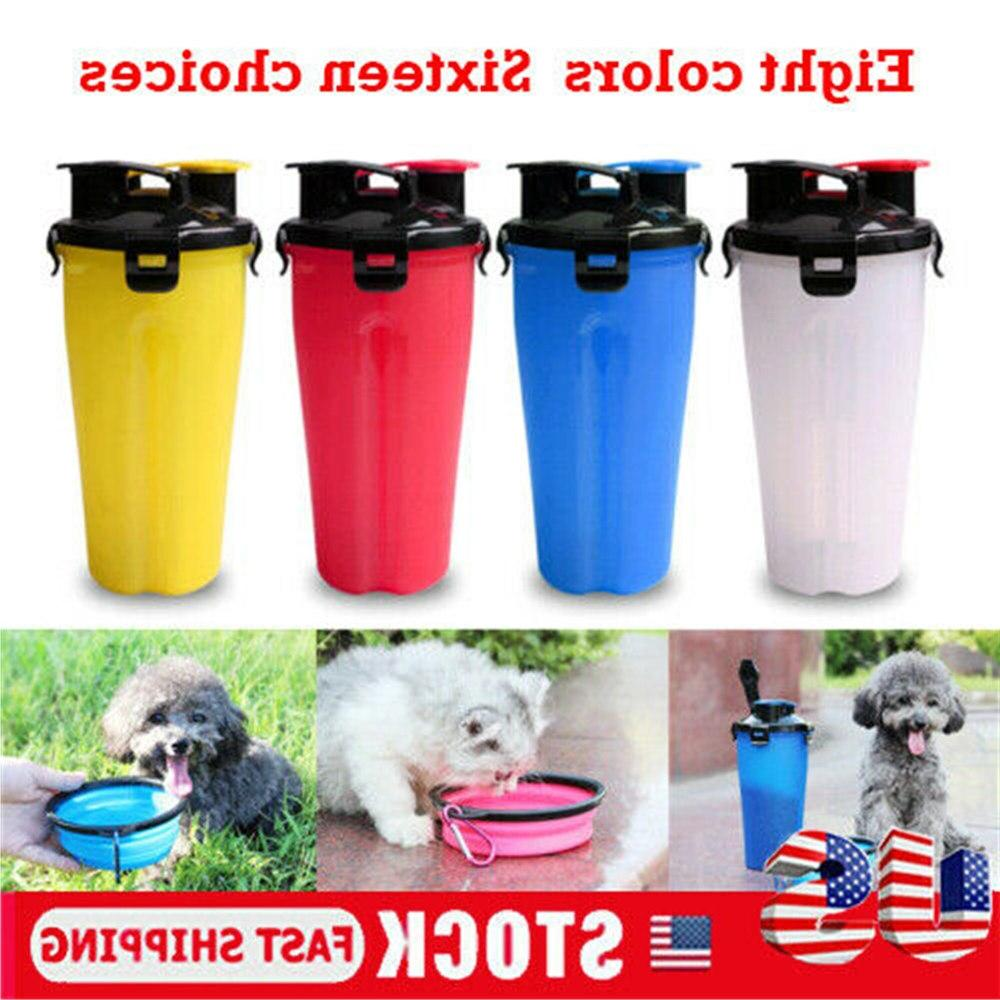 2 in 1 700ml portable pet water