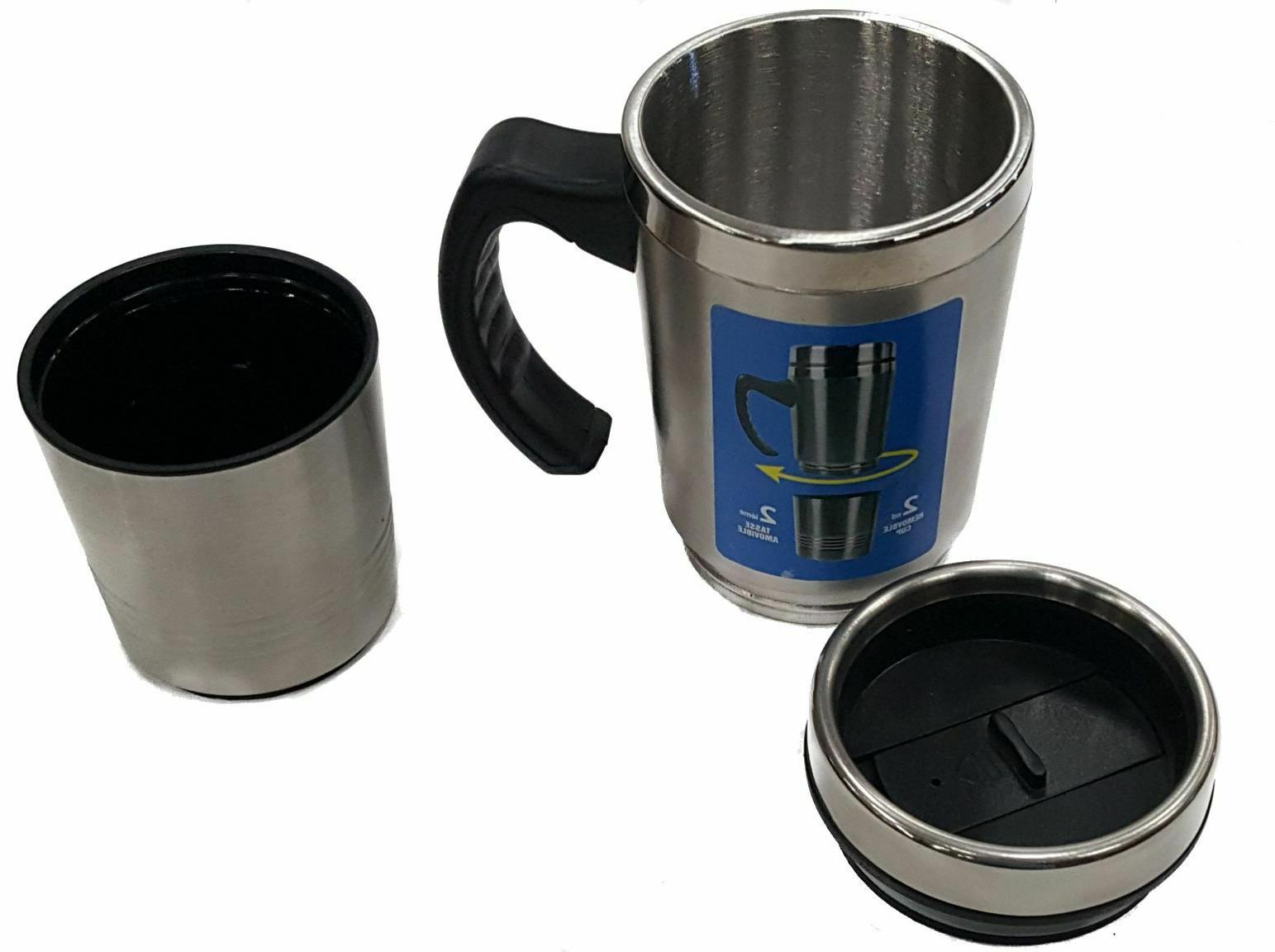 2 in TRAVEL with Removable Cup STAINLESS or