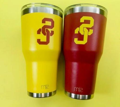 2 stainless steel 30oz tumblers travel mug