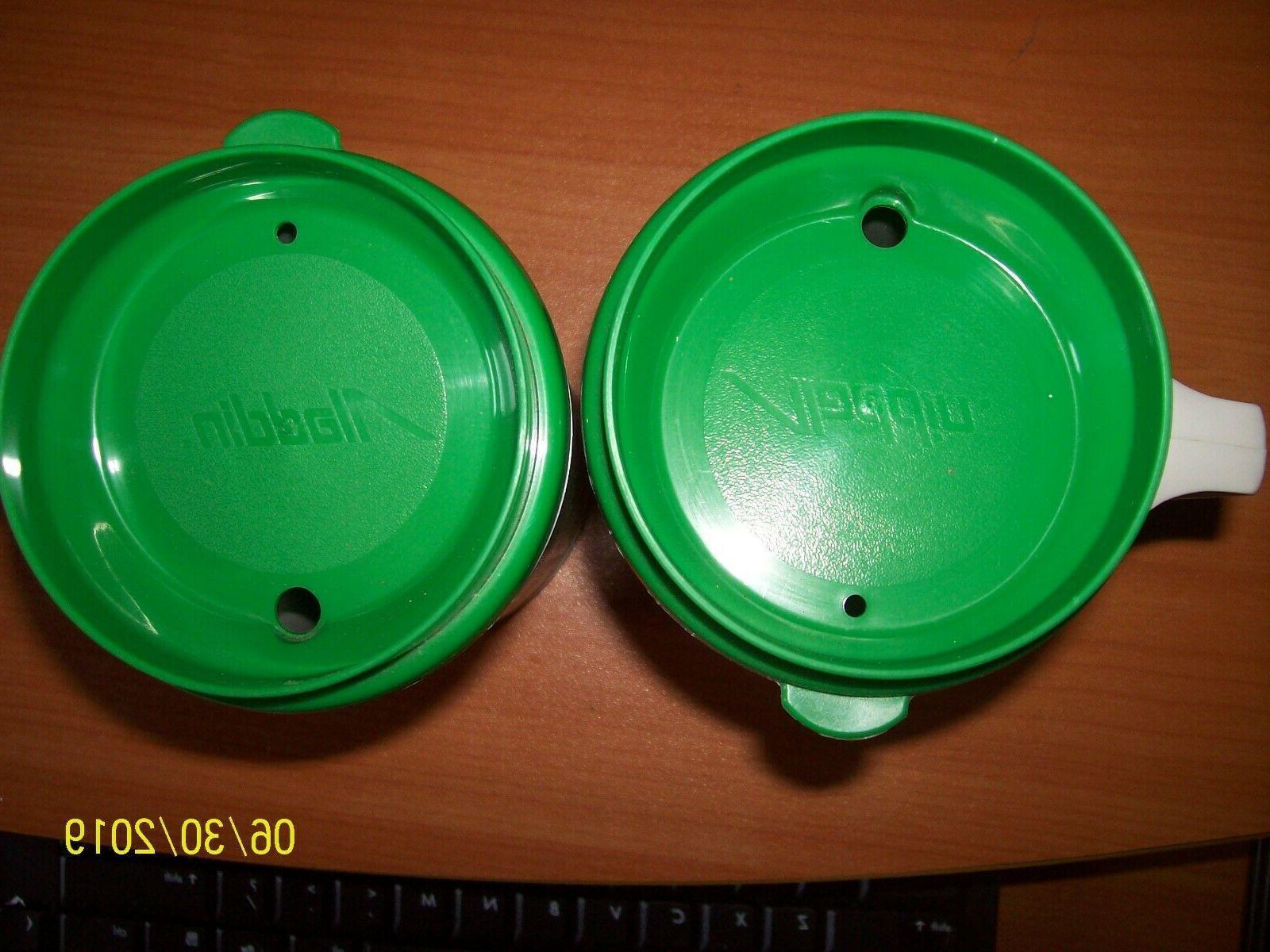 2 Vtg Insulated Travel 12 Oz Aladdin Coffe mug