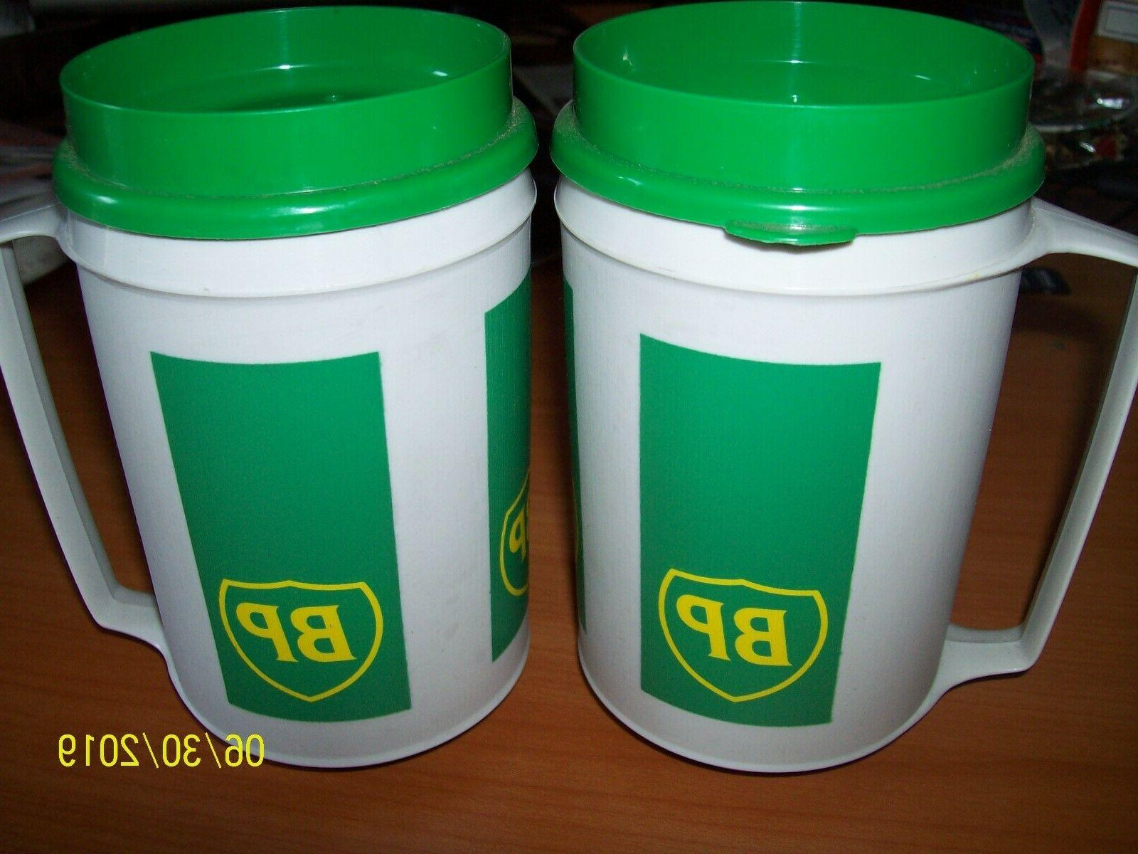 2 vtg bp insulated travel mug cup