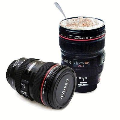 Travel Mug Cup Coffee Tea Camera Lens Cup Portable Multi Pur