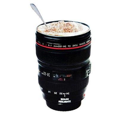24-105mm Travel Coffee Cup Stainless Camera Lens Cup