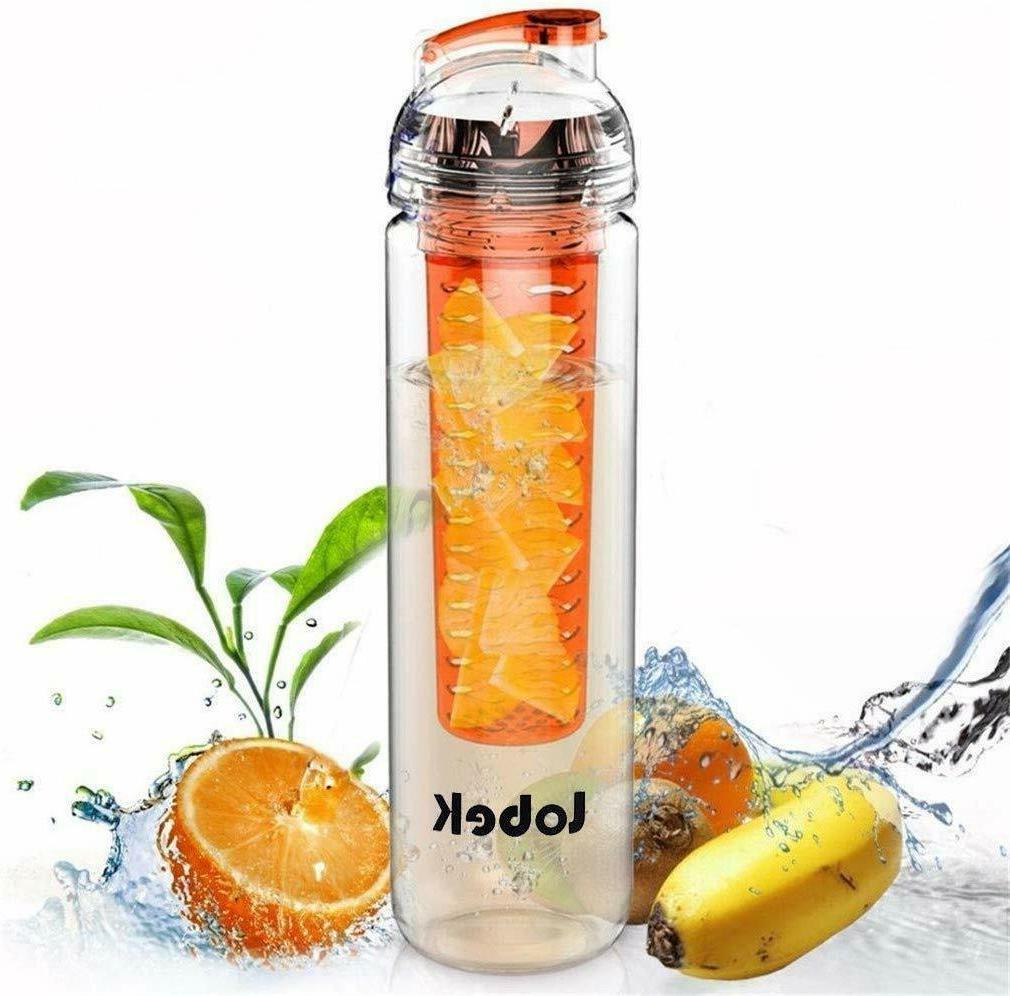 27oz bpa free infuser water bottle fruit